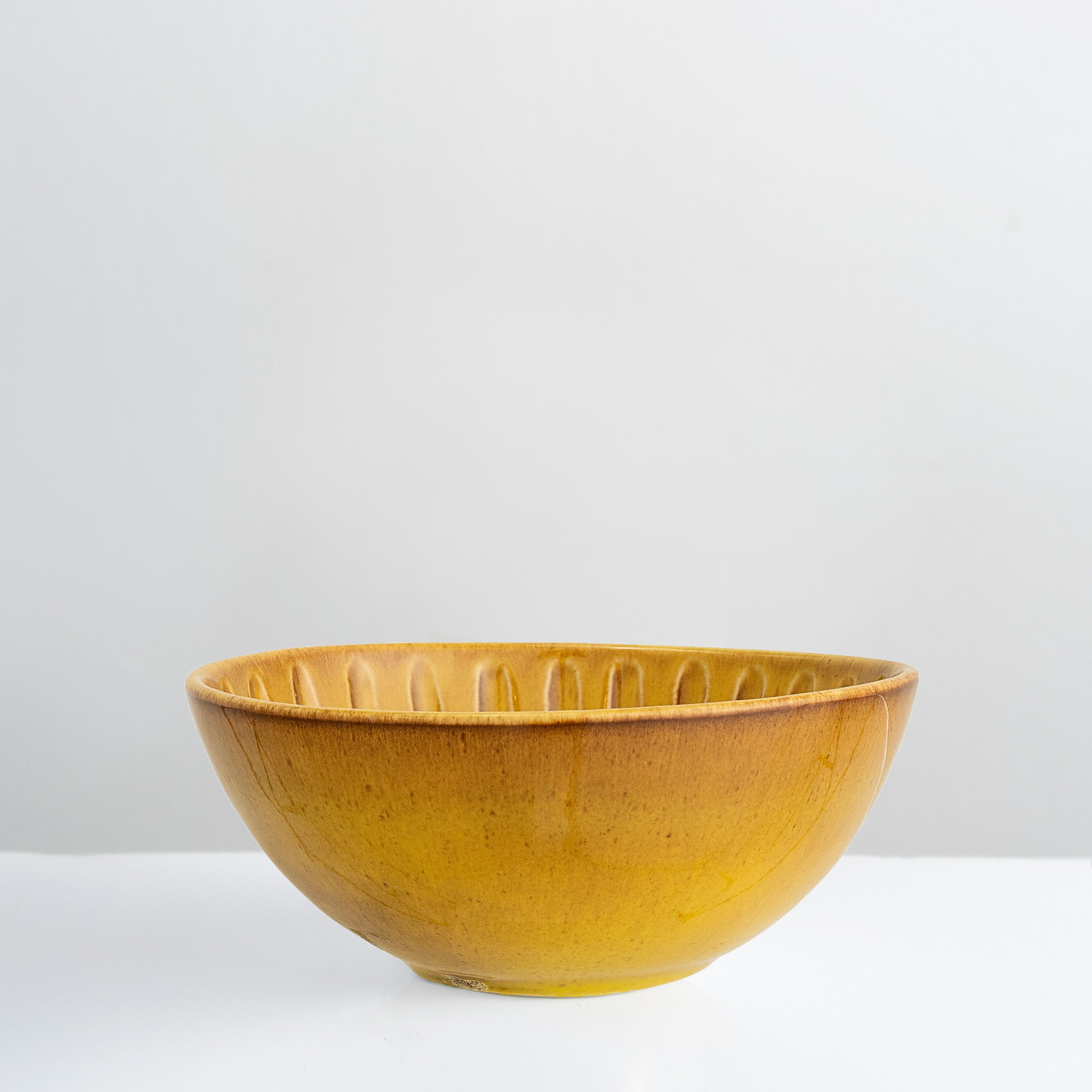 Handmade yellow glazed Cala bowl
