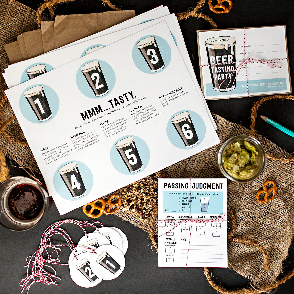 Printable Beer Tasting Party Kit