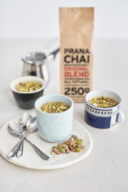 NEW Prana Chai Original Masala Blend Starter Box with Huskee 12oz Cup & Lid