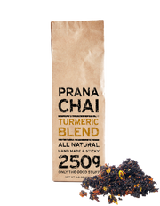 NEW Prana Chai Turmeric Blend Starter Box with Huskee 12oz Cup & Lid