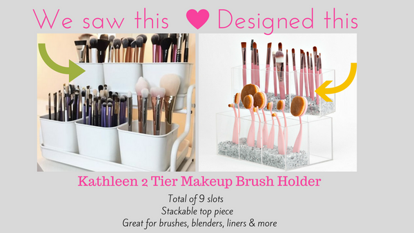 Kathleen 2 Tier Makeup Brush Holder