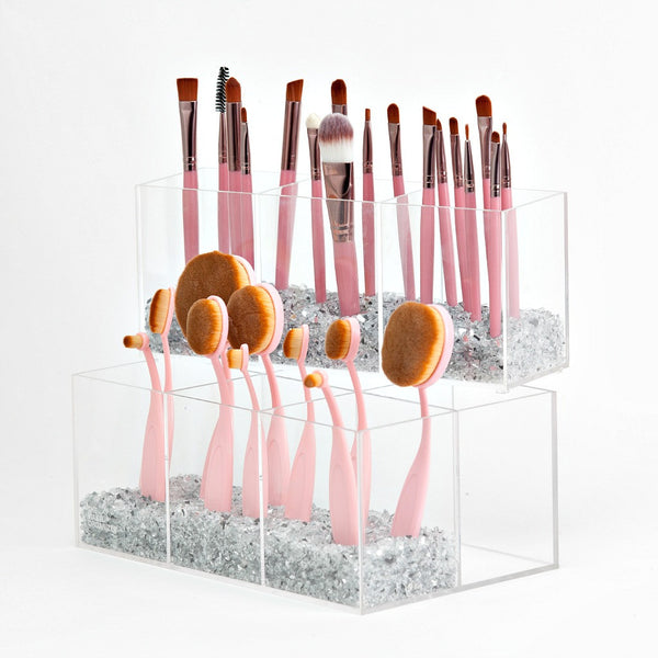 Kathleen 2 Tier Acrylic Makeup Brush Holder