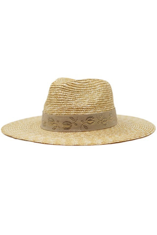 Classic Straw Hat with Band PREORDER