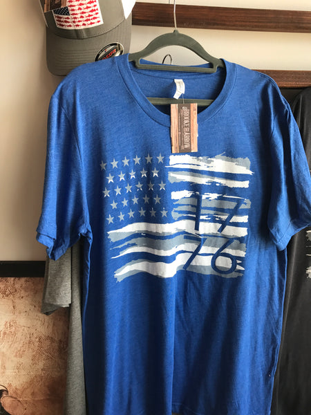 Mens Flag Tee Royal