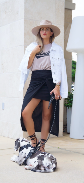 Black Side Knot Skirt