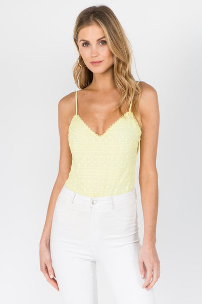 Cindy Bodysuit - Yellow