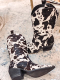 Black Tall Cowhide Boots