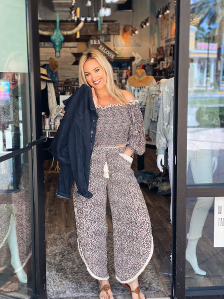 Surf Gypsy Leopard Pants