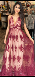Memorable Maroon with Print
