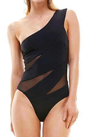 Black Sheer One Piece