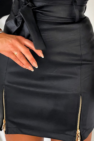 Fashionably Late Skirt - BLACK
