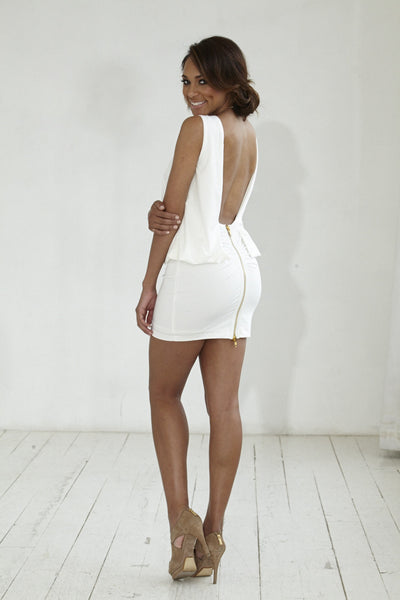 Backless Winter White