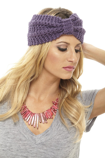 Headbands of Hope Knit Headband Purple