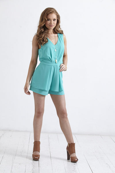 Bright and Happy - Emerald Romper