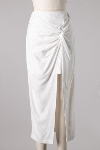 Ivory Side Knot Skirt