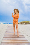 Orange County Romper