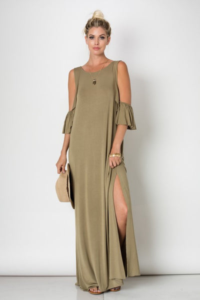 Olive Dip Shoulders