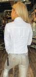 Star White Denim Jacket