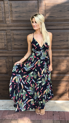 Peacock Pattern Maxi