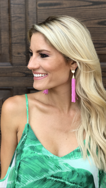 Somewhere Tropical Earrings - Pink