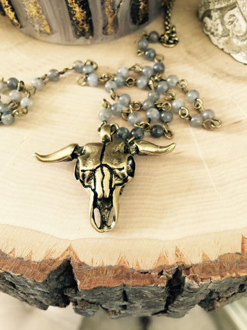Bull Skull Necklace