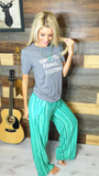 Turquoise Vacation Pants