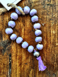 Simbi Haiti Bracelet - Purple with purple tassel