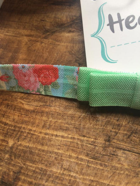 Headbands of Hope Tie Dye Mint/Floral