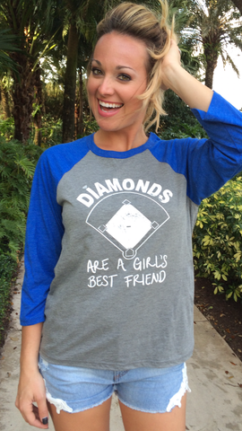 DIAMONDS - Blue/Grey