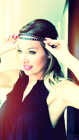 Black STUD Headband