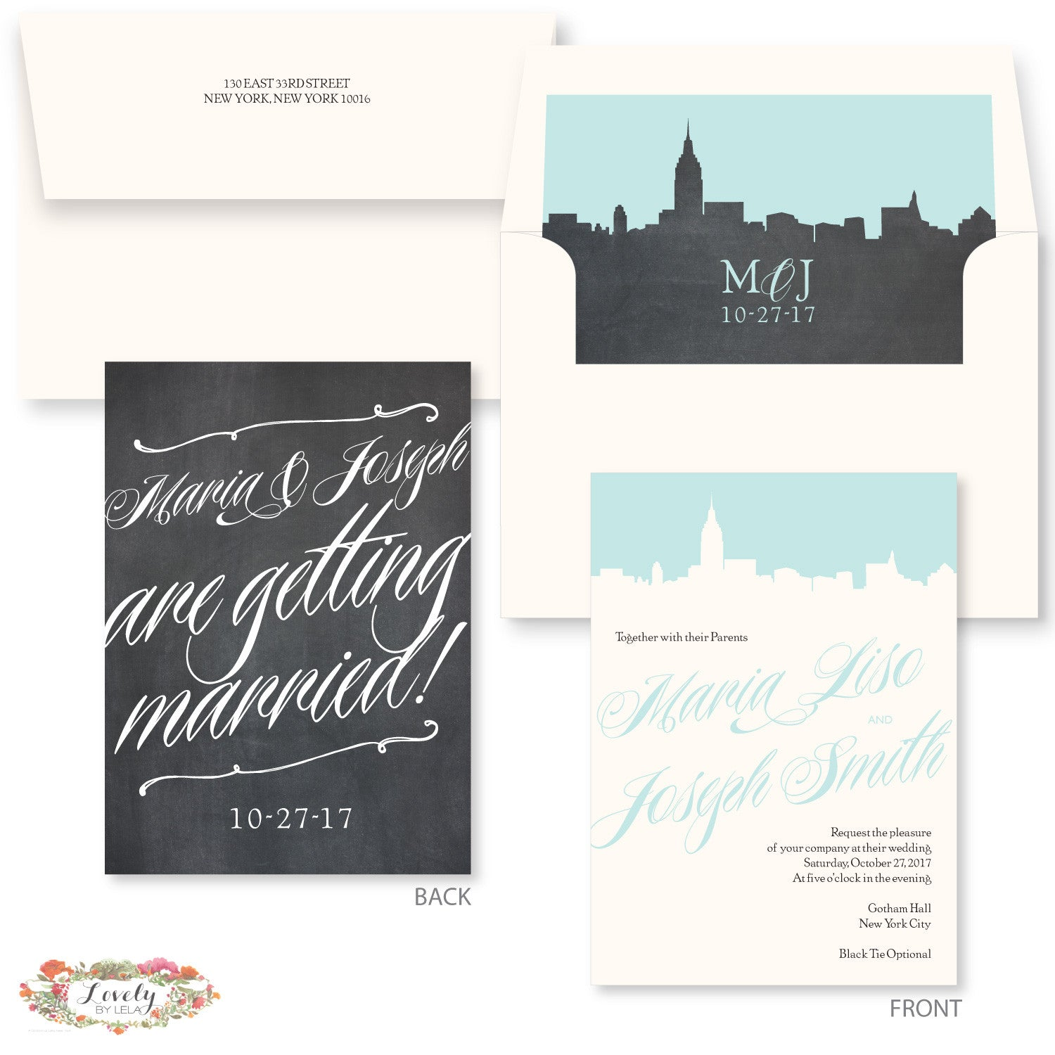 New York Wedding Invitations