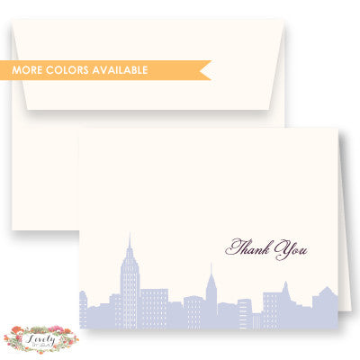 NYC Skyline Thank You Note Cards