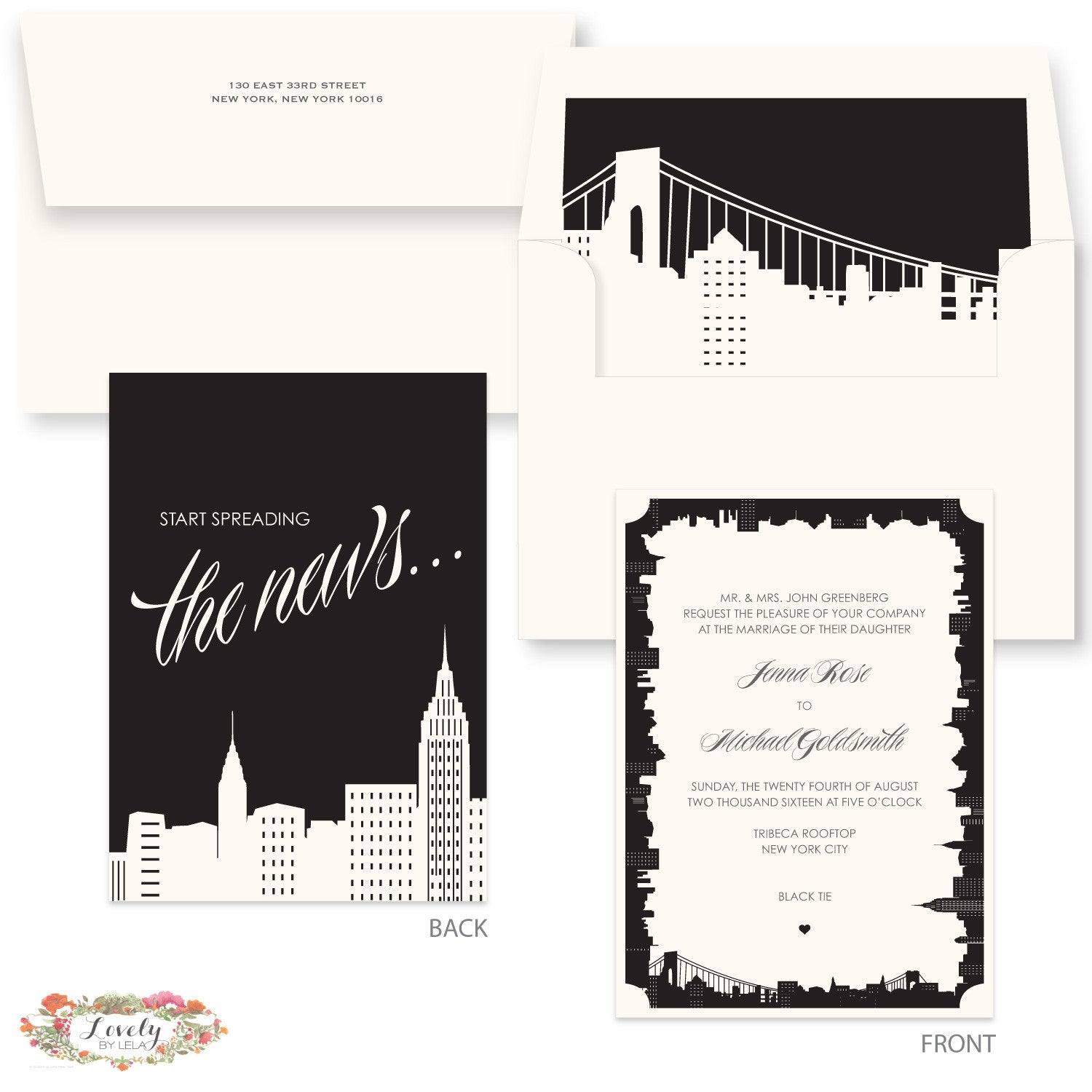 NYC Skyline Wedding Invitations