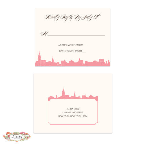 NYC Skyline Wedding Response Set