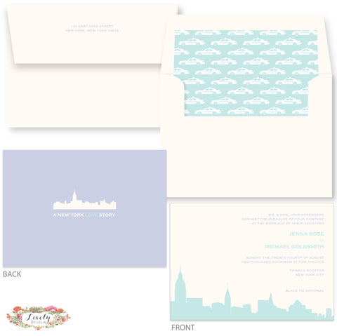New York LOVE Wedding Invitations