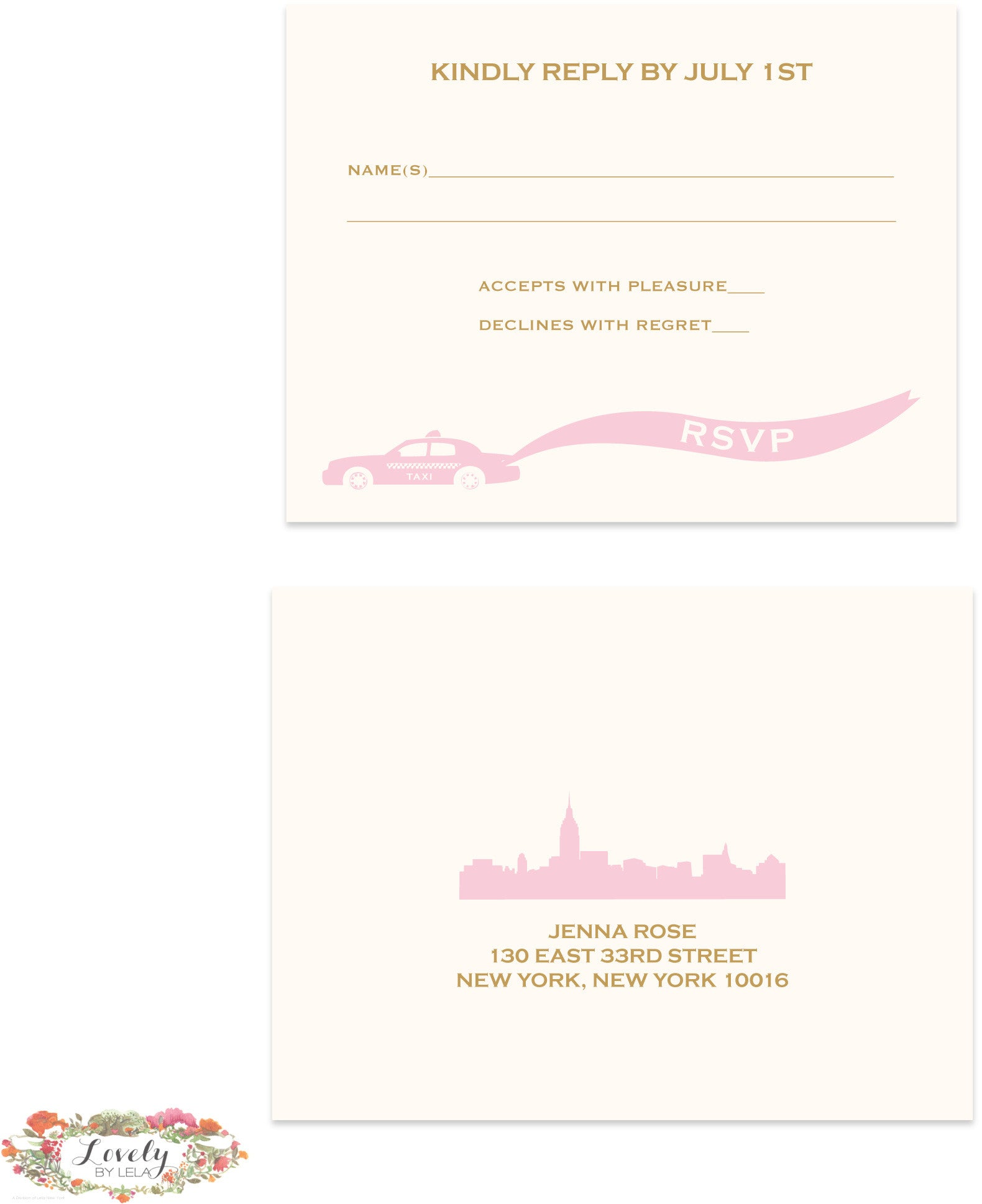 New York LOVE Wedding Response Set
