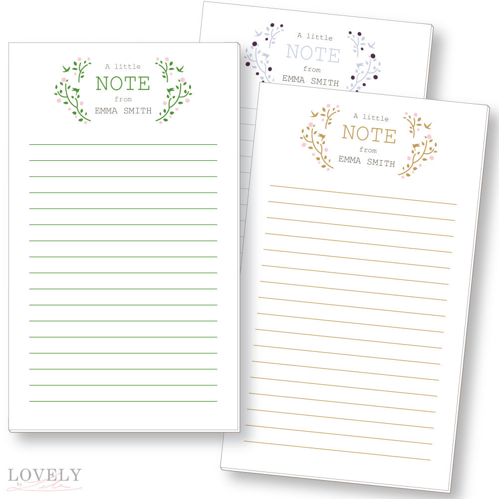 """A Little Note"" Notepad"