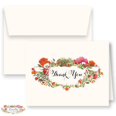 Lovely Signature Thank You Note Cards