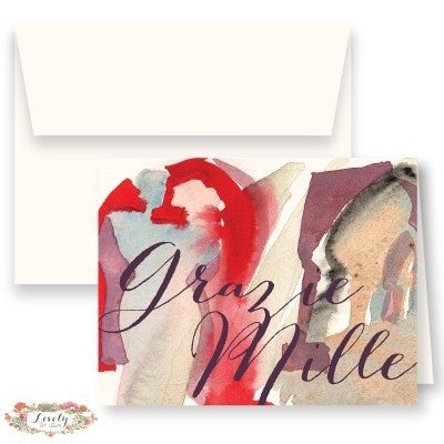 Grazie Mille Thank You Note Cards