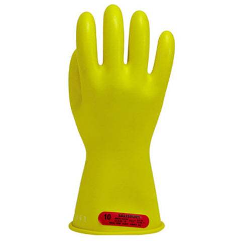 Salisbury E011Y  1,000-volt class 0 yellow rubber gloves