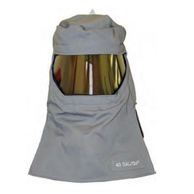 HRC4 Salisbury FH40GY 40 cal Arc Flash Protection Hood