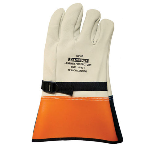 "Salisbury ILP3S 12"" Leather protectors for rubber gloves"