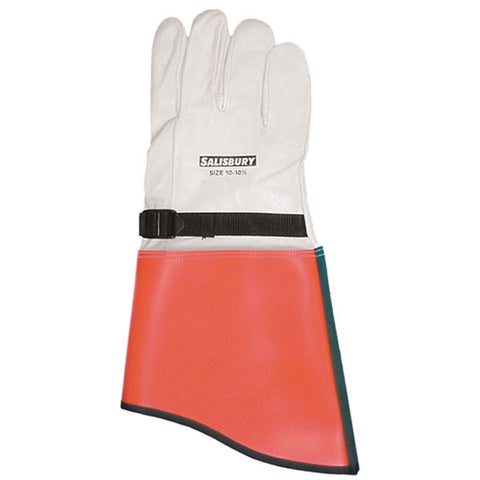 "Salisbury ILP5S 14"" Leather protectors for rubber gloves"