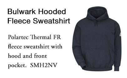 Bulwark SMH2NV Hooded Fleece Sweatshirt