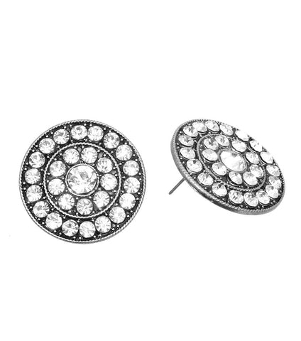 BOLD & GLAMOUROUS CLASSIC HOLLYWOOD EARRINGS W/RHINESTONES