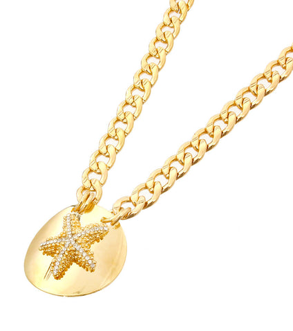 Starfish Necklace in Silver or Gold Tone