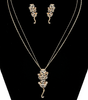 My Sexy Lil Exotic Tiger Necklace & Earrings Set with Rhinestones in Silver or Gold Tone