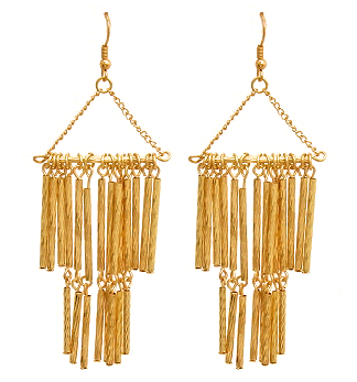 Chime Earrings in Gold Tone