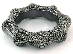 Stunning Bold Statement Bangle in Hematite