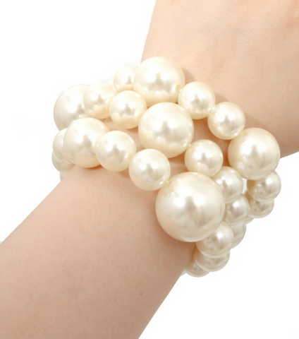 GLAM-IT-UP! BOLD PEARL BRACELET SET (3 PIECE SET)